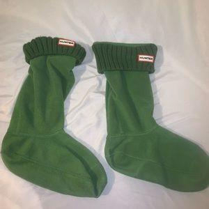 Hunter boot socks size large women's
